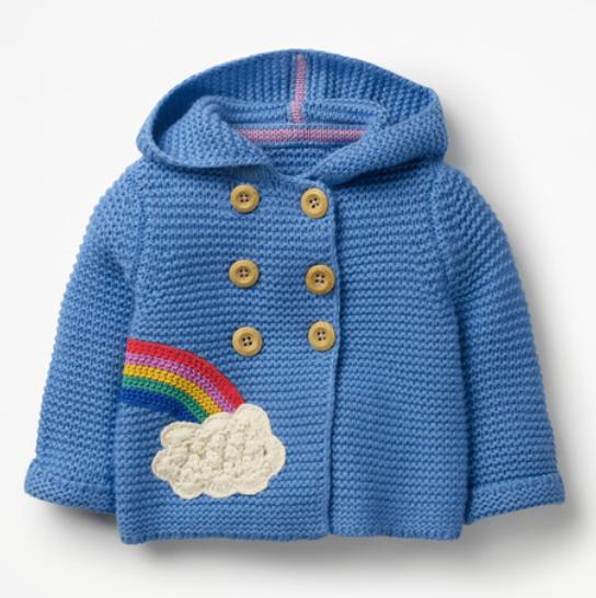 Rainbow Knitted Jacket Cardigan