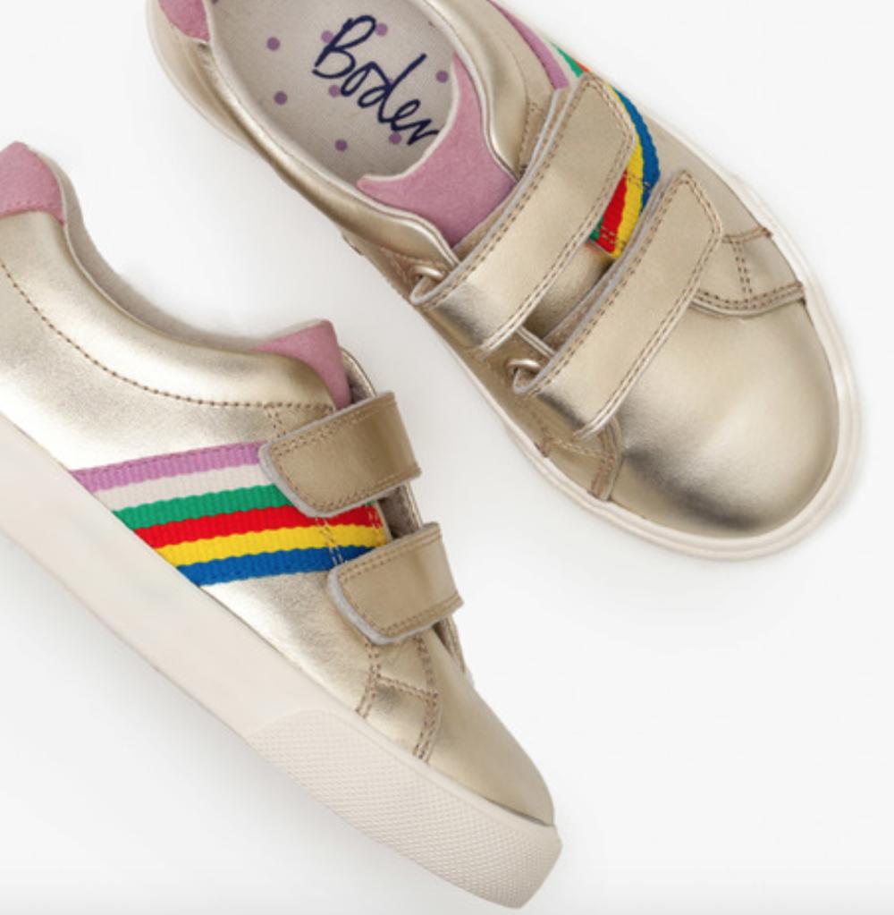 Mini Boden Girls Fun Low Top Rainbow Sneakers -