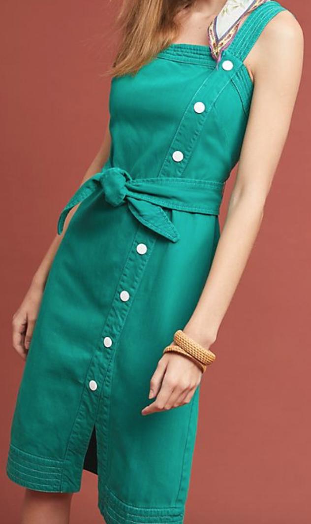 Anthropologie Elizabeth Button-Front Dress -