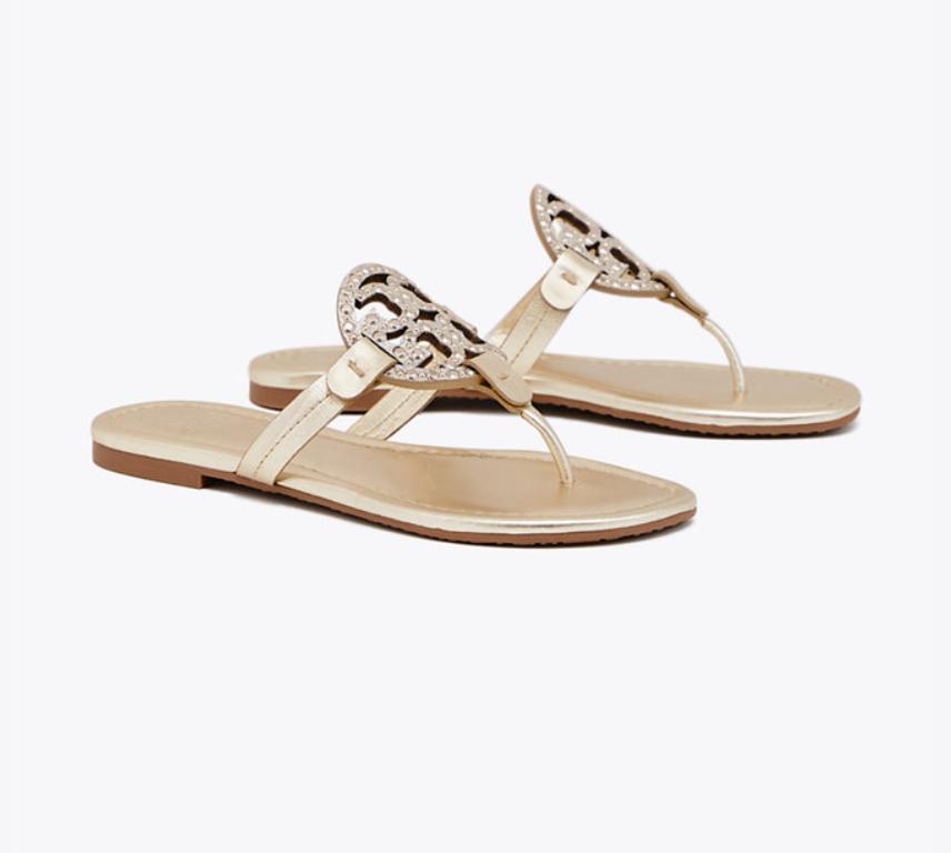 Miller Embellished Sandal, Leather