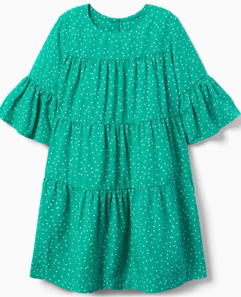 Gymboree Grass Green Dot Tiered Dress -