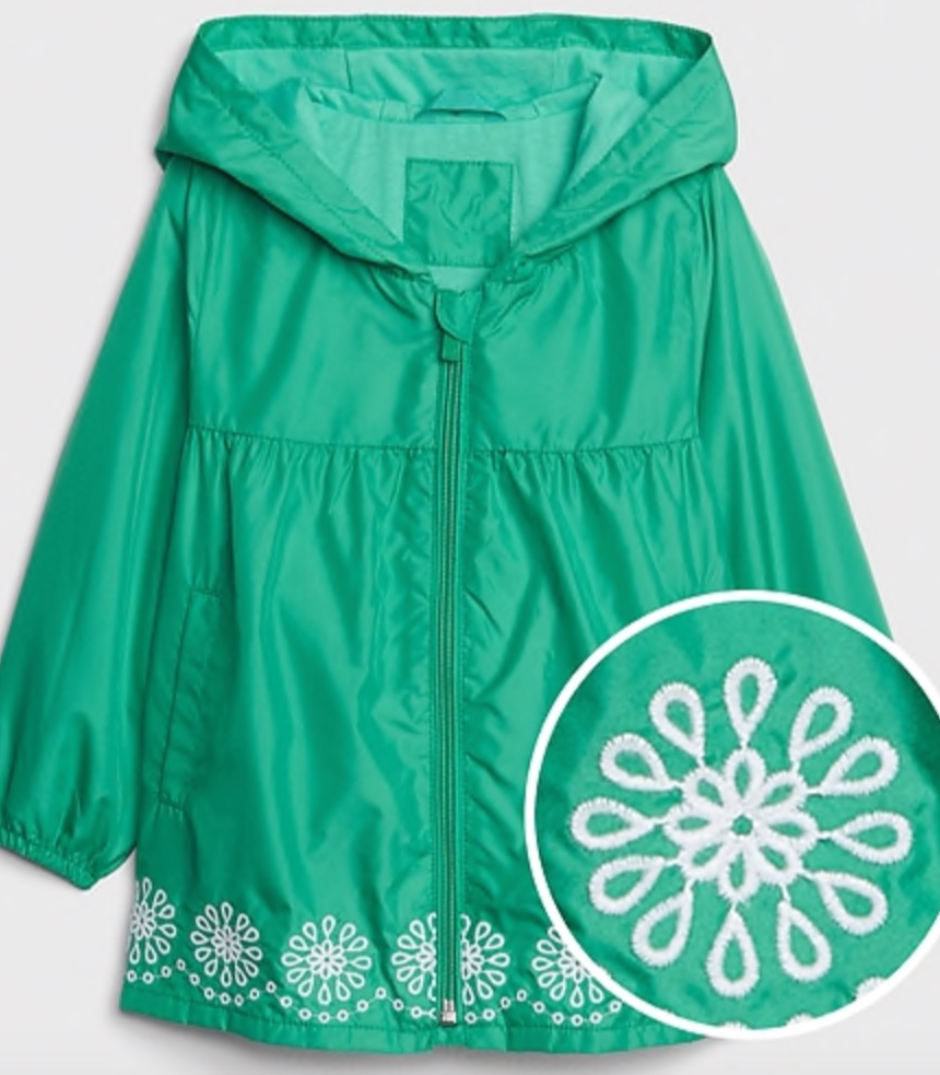 Gap Toddler Embroidered Trim Windbuster -