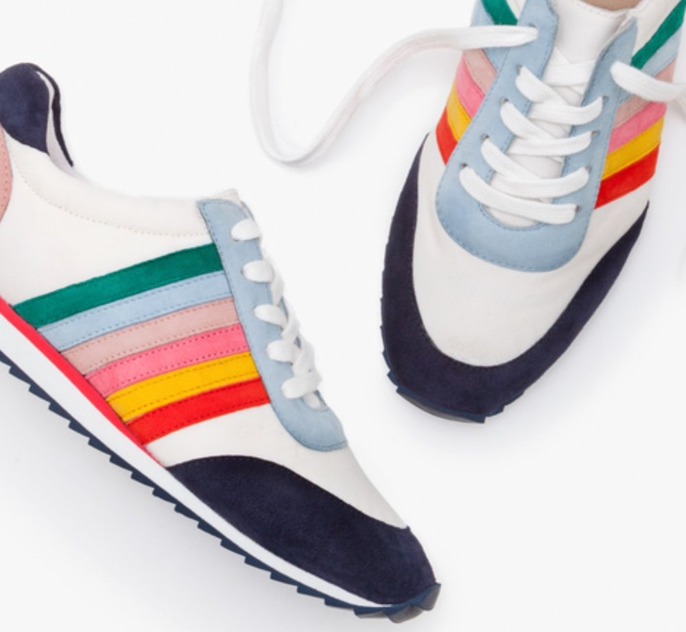 Boden Striped Womens Sneakers -