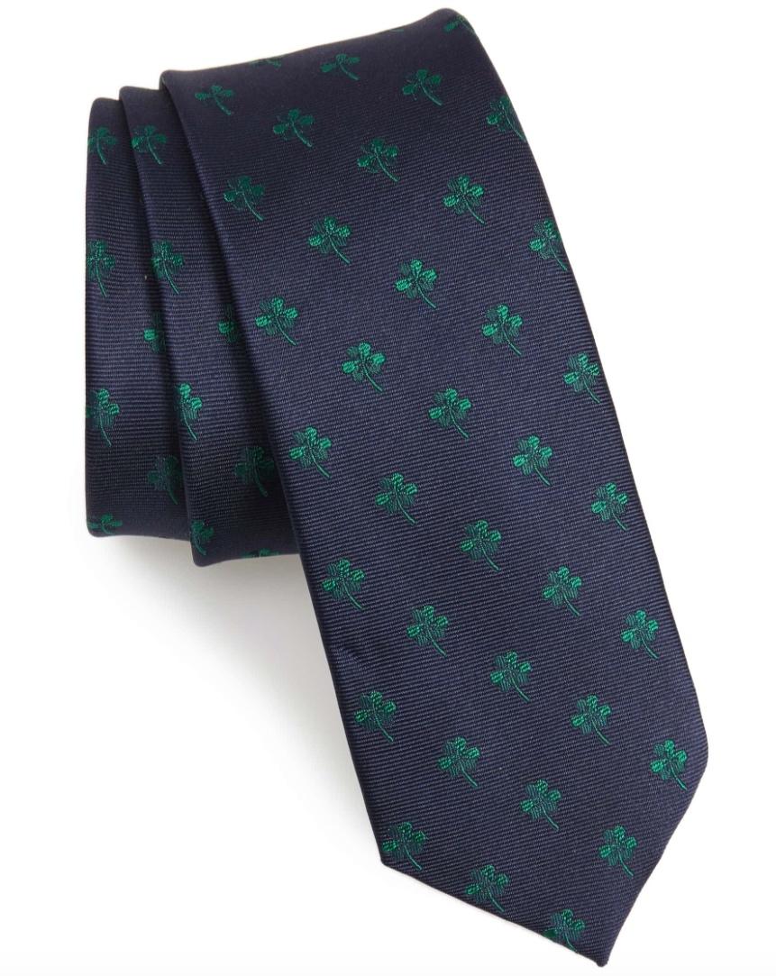 1901 Shamrock Silk Blend Tie -