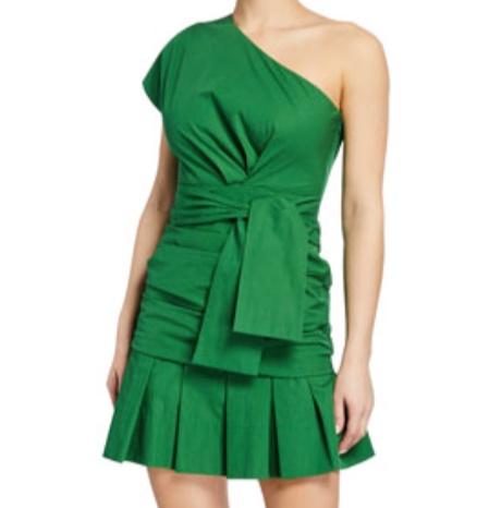 Derek Lam 10 Crosby One-Shoulder Gathered Dress -
