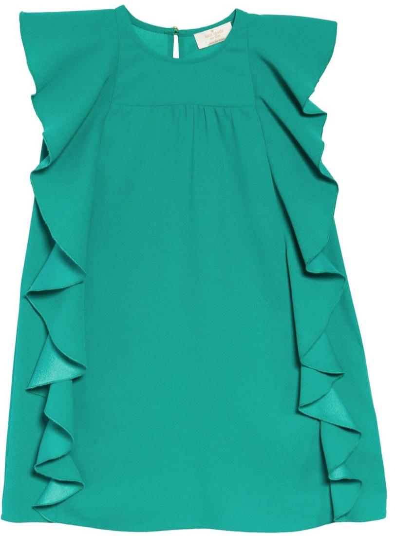 Kate Spade New York Girls Cascading Ruffle Dress -