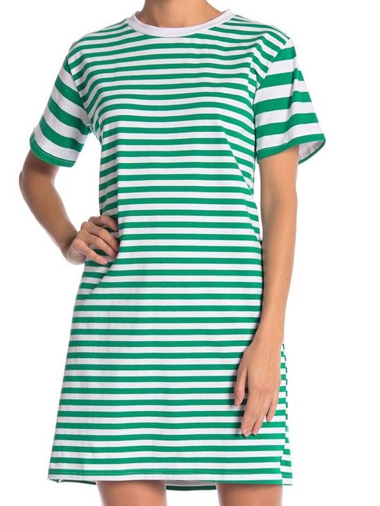 Cotton Emporium Variegated Stripe Dress -