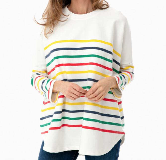 Pomander Place by Tuckernuck Rainbow Evie Swing Sweatshirt -