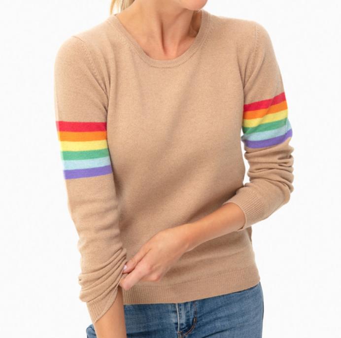 Jumper 1234 Camel Summer Rainbow Boyfriend Sweater -