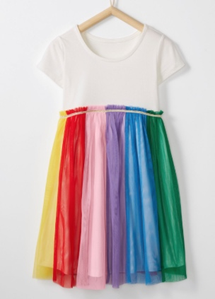 Hanna Andersson Rainbow Dress in Soft Tulle -