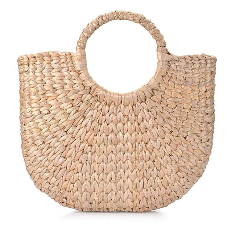Sukutu Women's Natural Chic Hand-Woven Tote Bag -