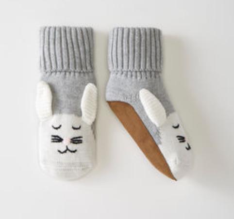 Hanna Andersson Bunny Sweaterknit Booties In Organic Cotton -