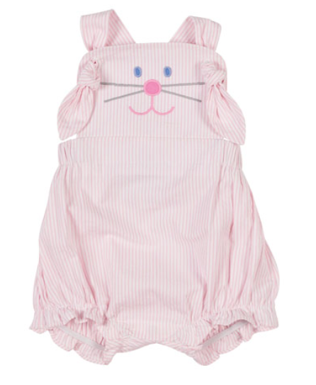 Florence Eiseman Hop To It Bunny Romper, Size 3-18 Months -