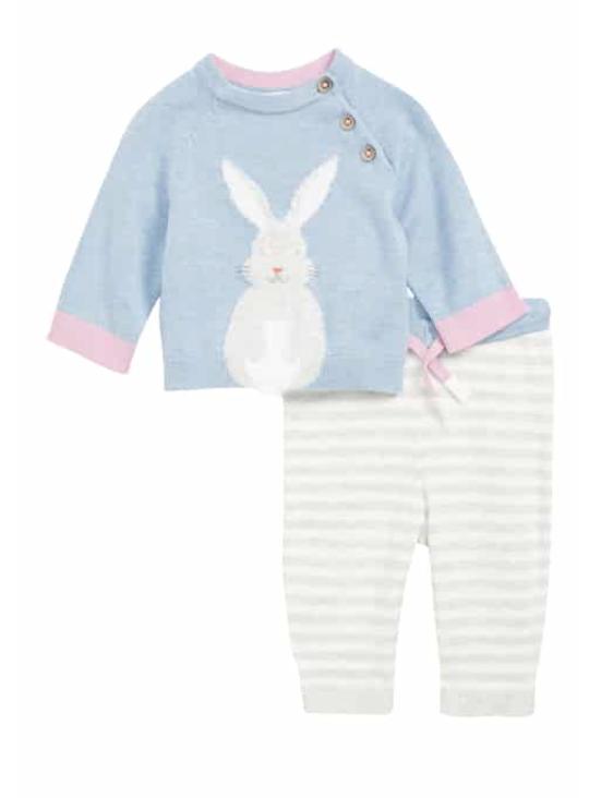 Mini Boden Bunny Sweater & Pants Set -