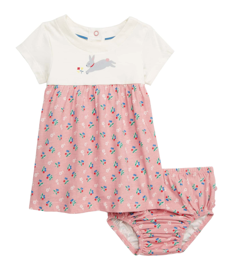 Mini Boden Bunny & Blossoms Jersey Dress -