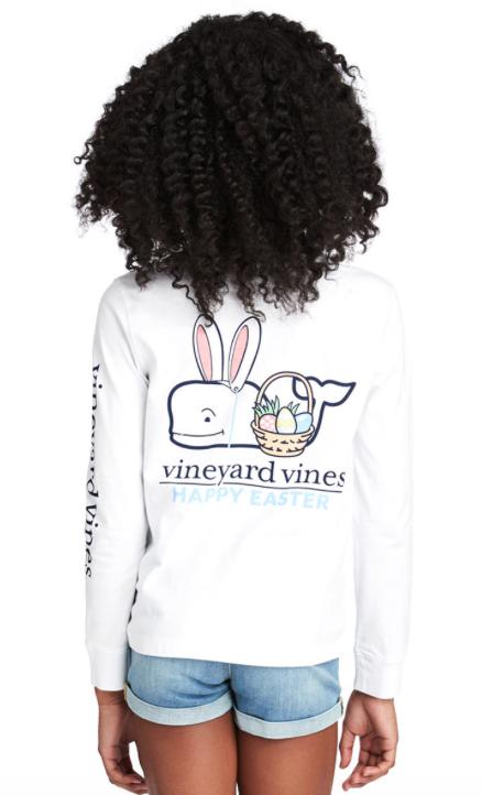 Vineyard Vines Girls Long-Sleeve Easter Pocket Tee -