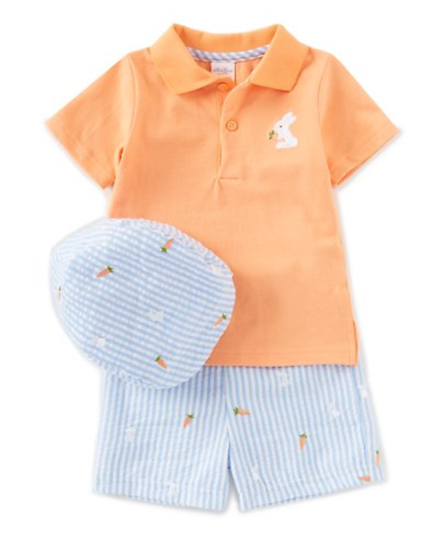 Baby Boys 12-24 Months Bunny 3-Piece Layette Set -