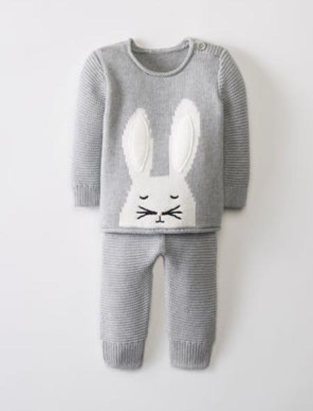 Hanna Andersson Sweaterknit Set In Organic Cotton -