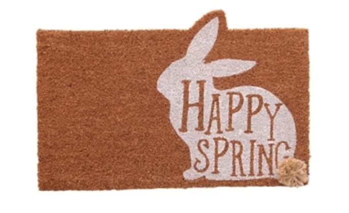 Mud Pie Happy Spring Door Mat -