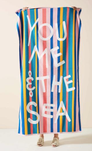 You, Me, & the Sea Beach Towel -
