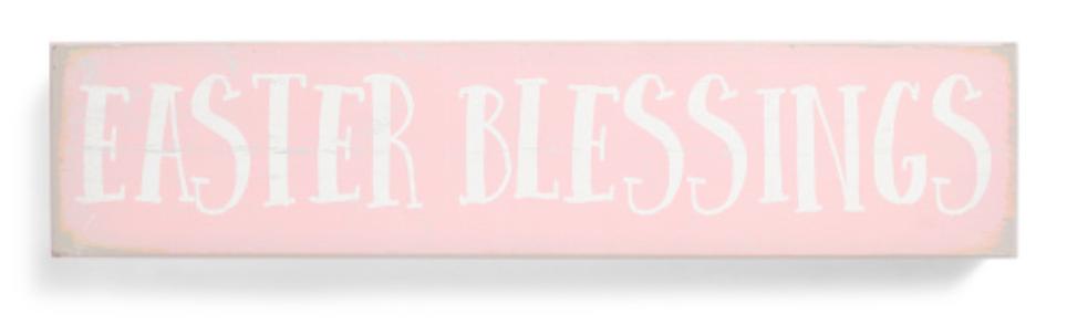 4x18 Easter Blessings Decor -