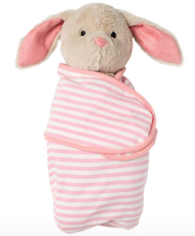 """Manhattan Toy Baby Bunny Stuffed Animal with Swaddle Blanket (11"""") -"""