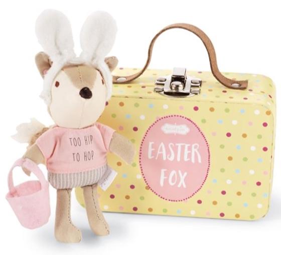 Pink Hoppy Easter Fox-In-A-Box Set -