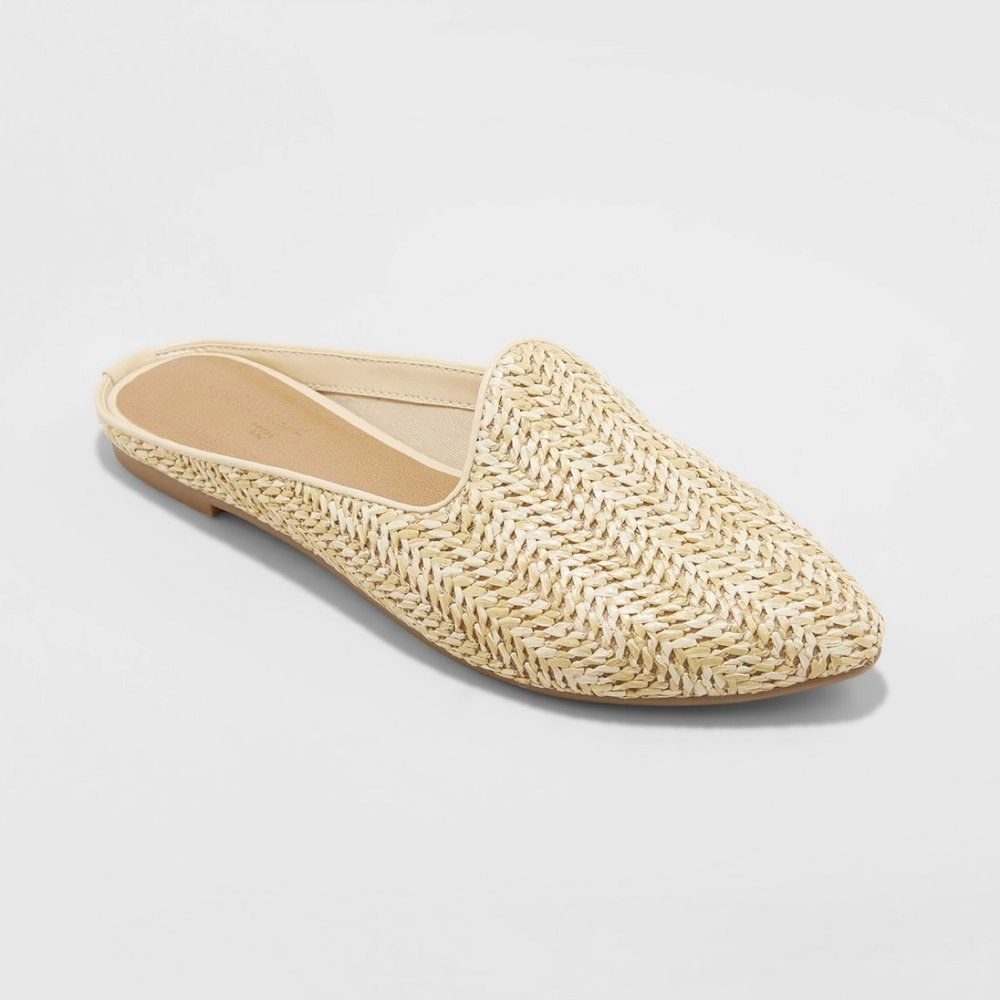 Violet Woven Backless Mules - Universal Thread™