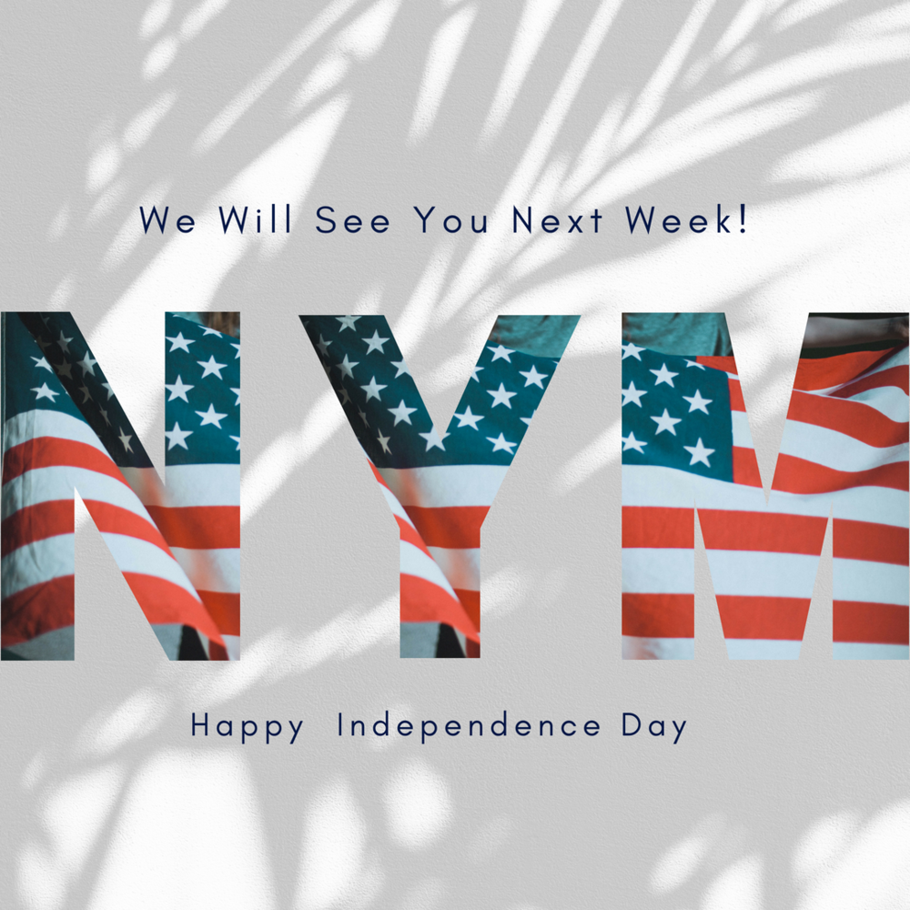 We hope that you enjoy this time of rest with family and friends celebrating our great country.