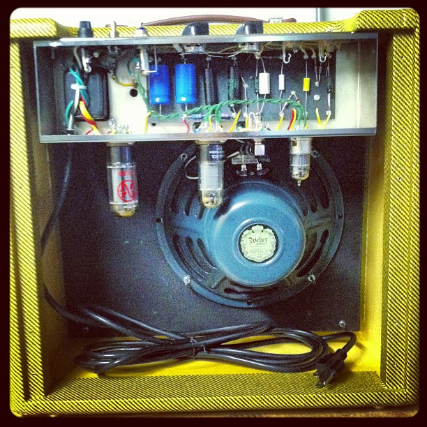 Headstrong Blue Lamp Series hand wired point to point Fender Tweed ...