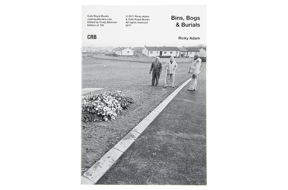 BINS, BOGS & BURIALS - Published by Cafe Royal Books in 2017Photographs of North Down council workers.Commissioned by the Arts Council of N. Ireland in 2001