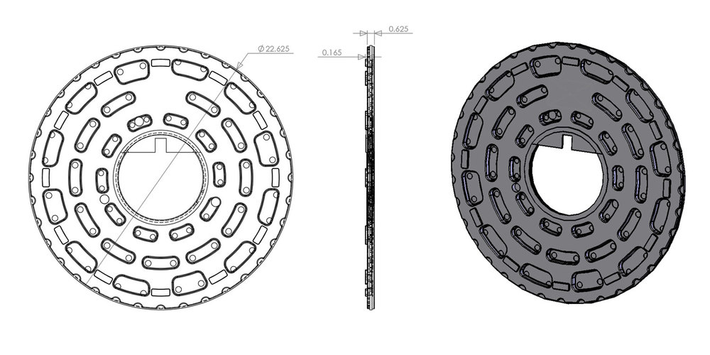 Dimensions shown in inches