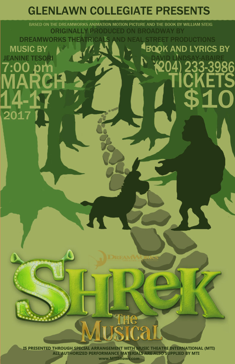 Glenlawn Collegiate's Shrek the Musical