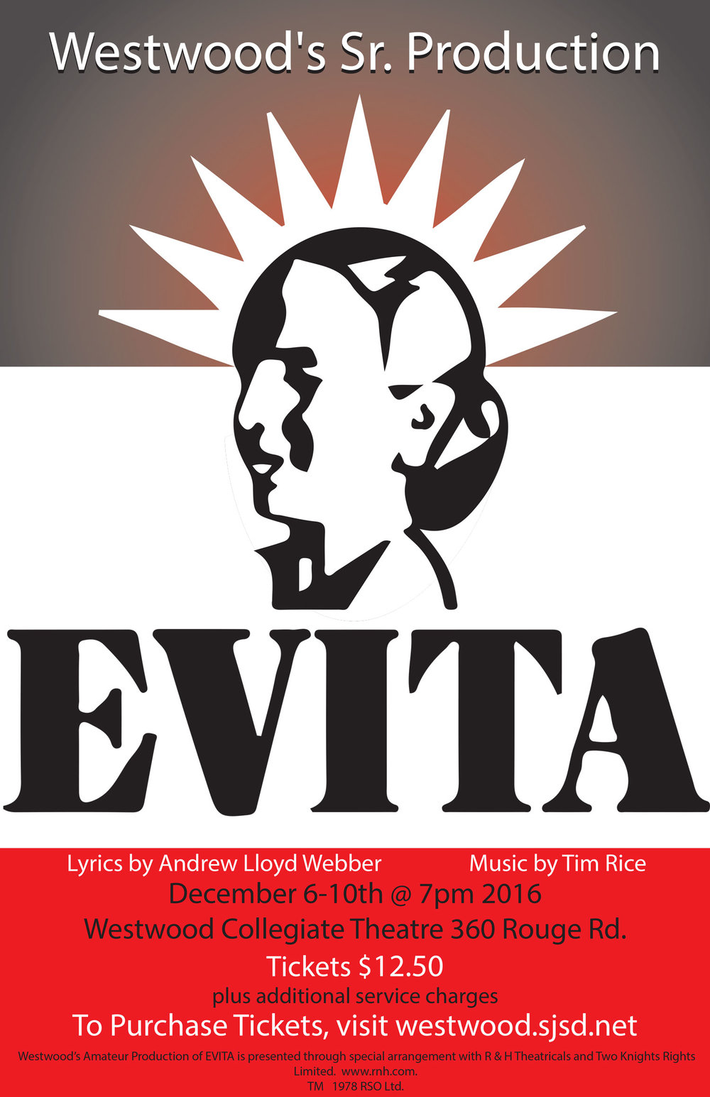 Westwood Collegiate production of Evita