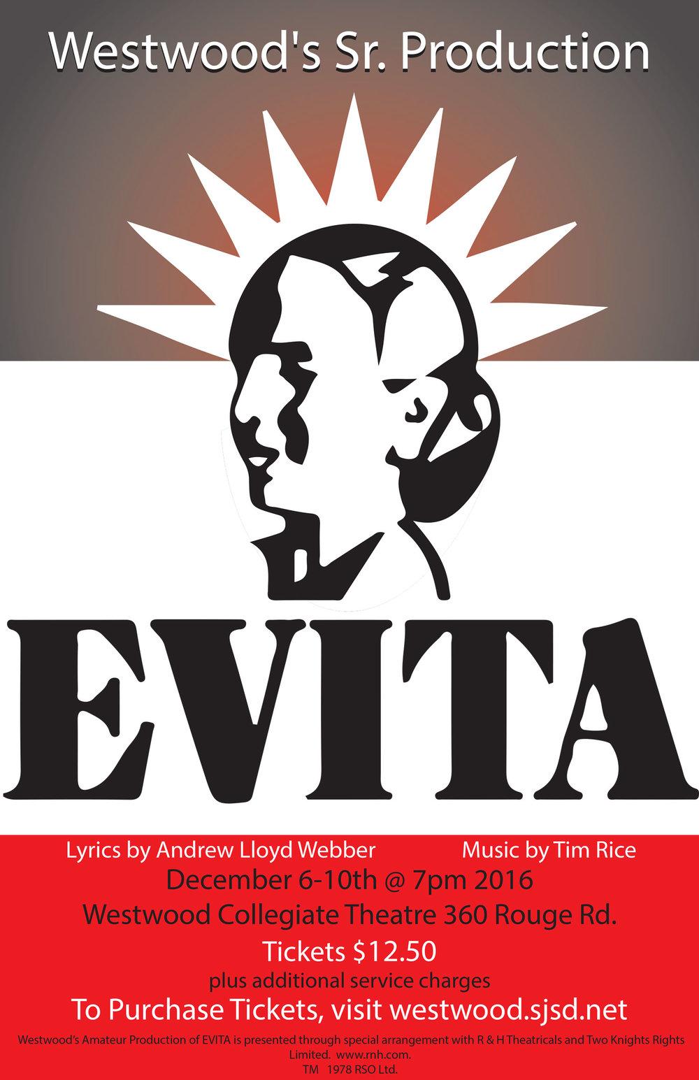 Westwood Collegiate production of Evita