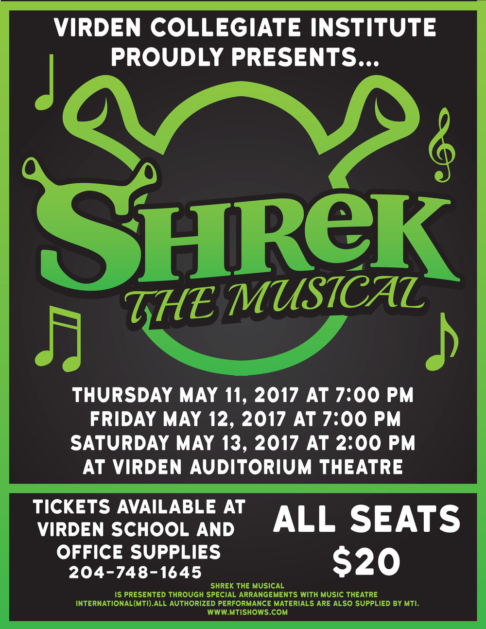 Virden Collegiate Institute: Shrek the Musical