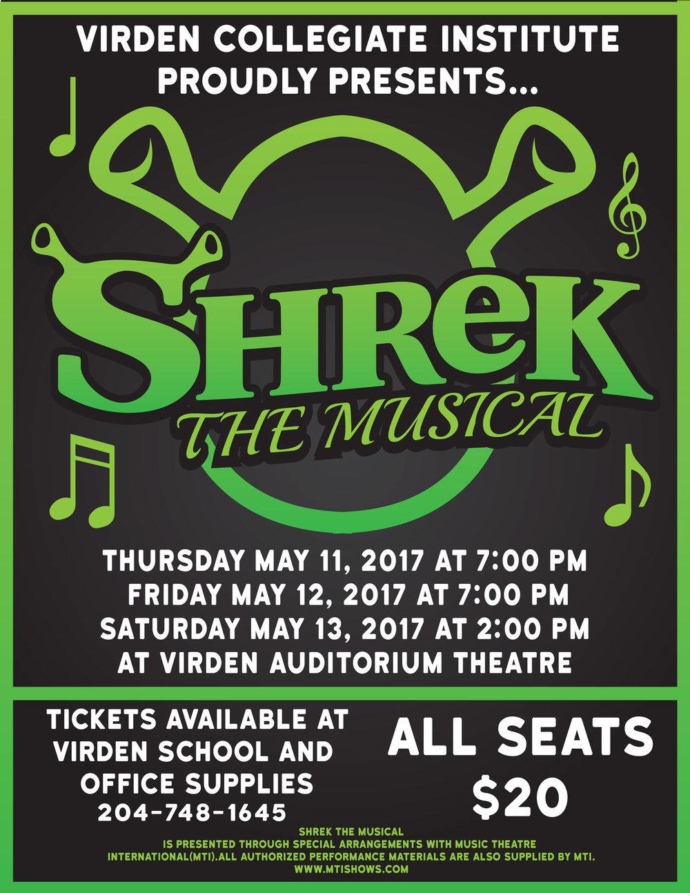 Virden Collegiate Institute: Shrek the Musical