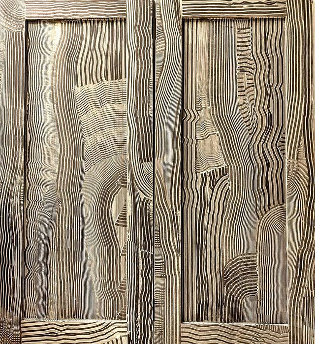 Nothing to say... Cupboard doors Crazy graining Nantucket Island Pre-antique wax. 6/25/18  #crazygrain #glaze #decoration #abstractart #paintingprocess #nantucketisland #unique #nantuckethouseinteriordesign #speedcomb #nantucketfog #art #interiordesigner