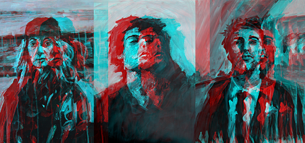 The Threamers , 2016 Digital artwork (Triptych).