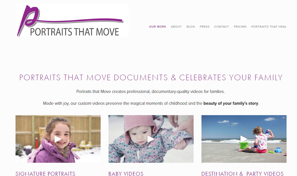 portraits that move custom family videos
