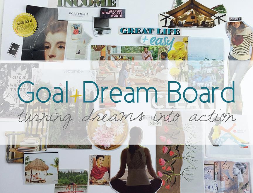 My whole Goal Board - before embellishing