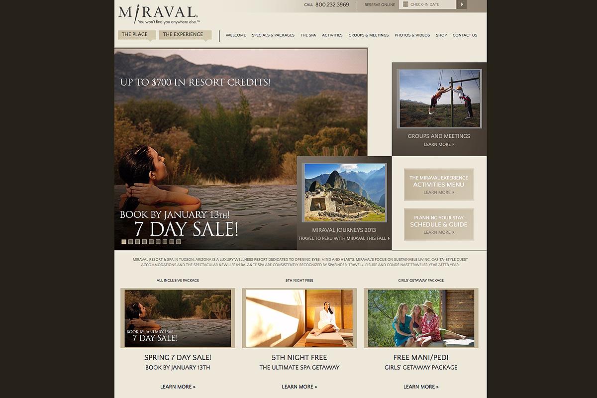 Miraval Website