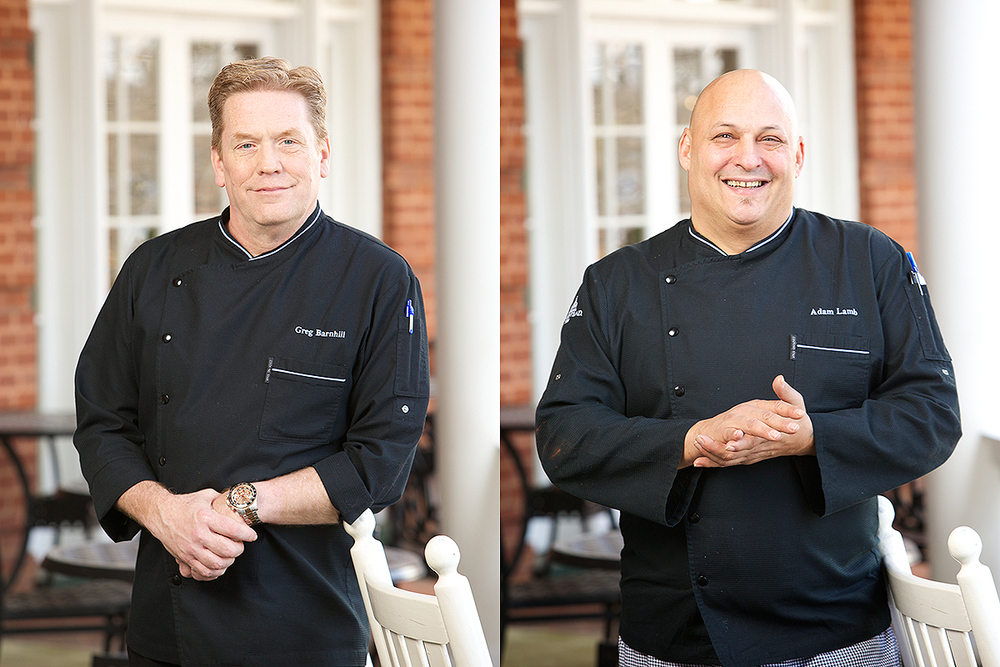 Photograph of two executive chefs for Omni Hotels.