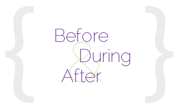 Before during and after your session