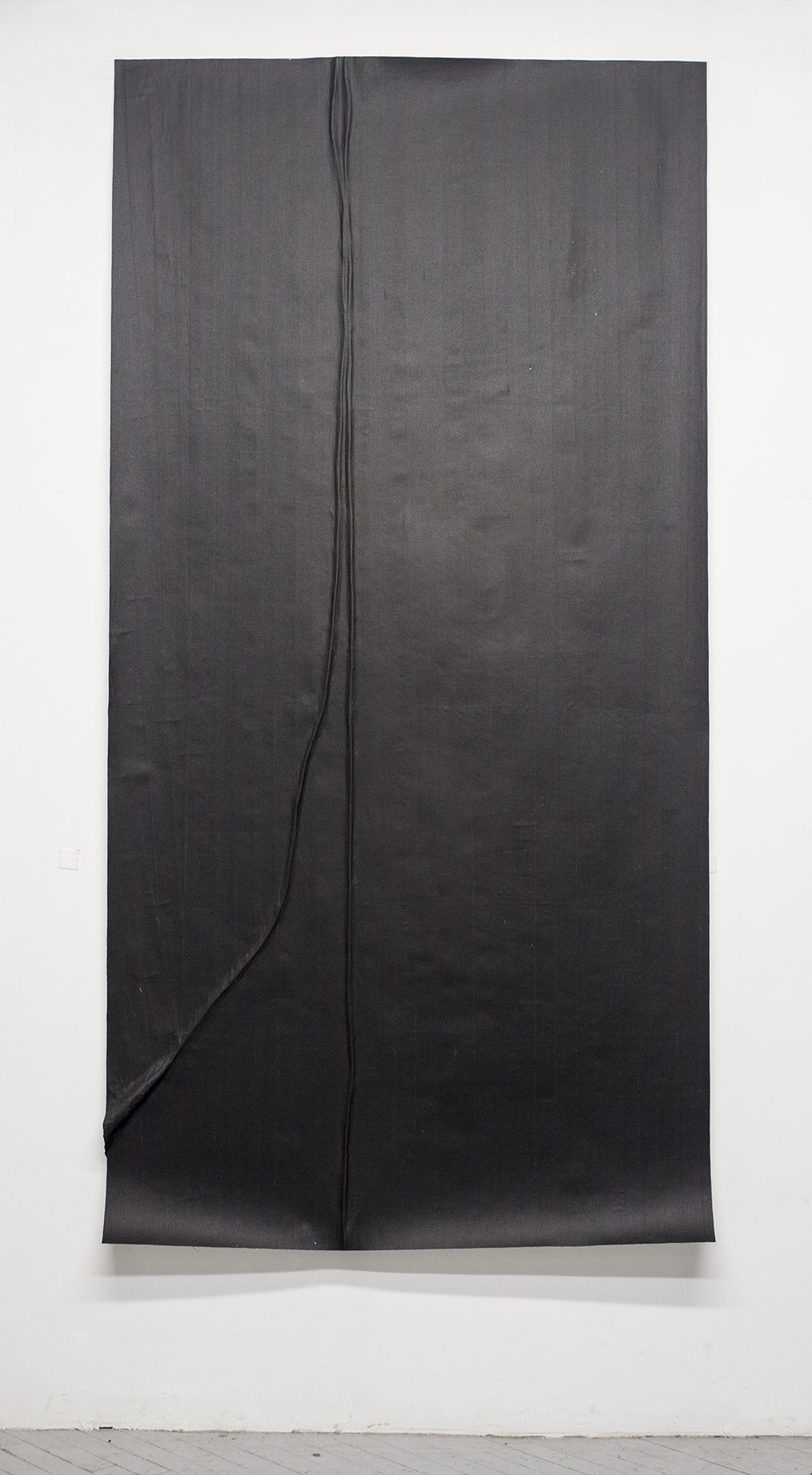 Study For a Microphone (Variation 8), 2014, Gaffers tape, muslin, epoxy, 48.125'' x 95.75''