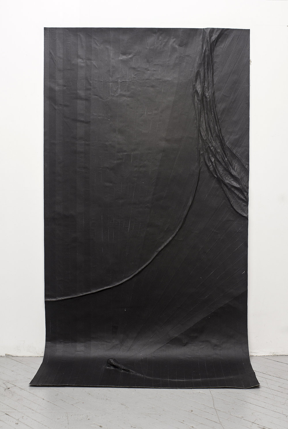Study For A Microphone (Variation 6), 2014, Gaffers tape, muslin, epoxy, 48.5'' x 96''