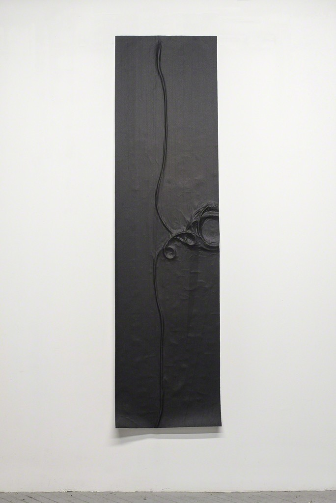 Study For Instrument Cable (Variation 1), 2014, Gaffers tape, muslin, epoxy, 24'' x 95''