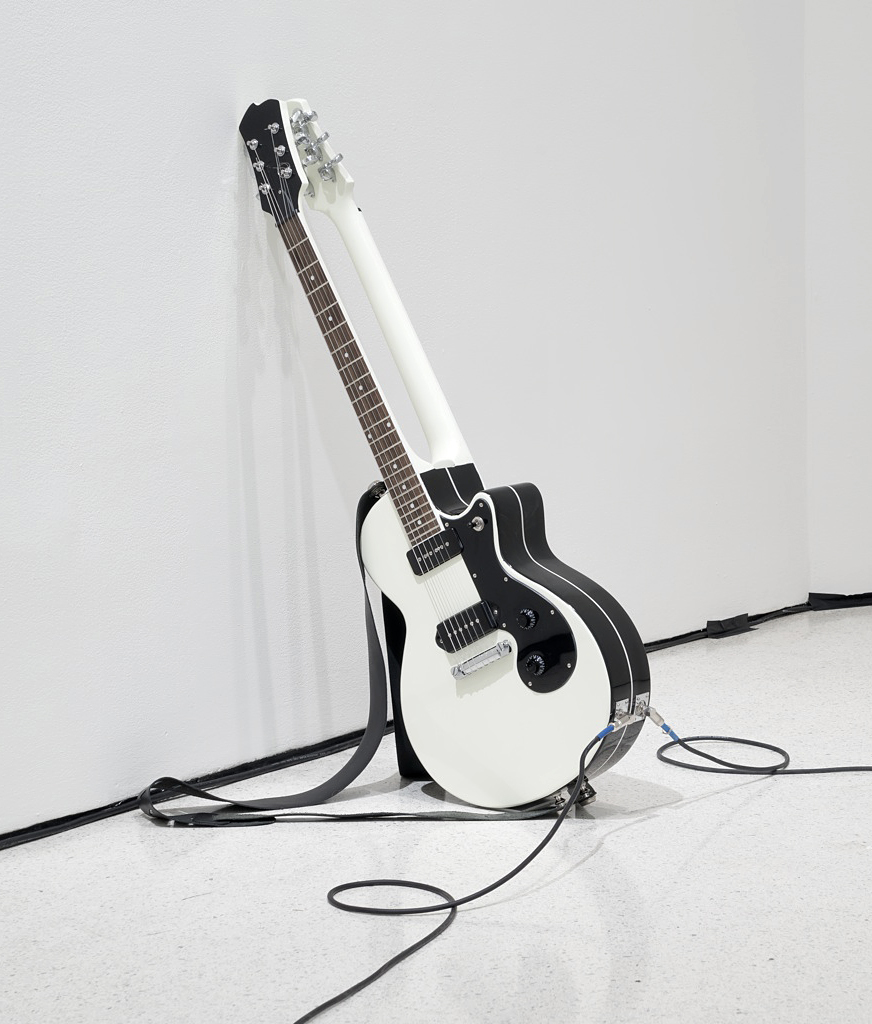 Untitled (Double Face), 2014 (first edition 2010), Mixed media with two guitars, 39.4'' x 12'' x 13''