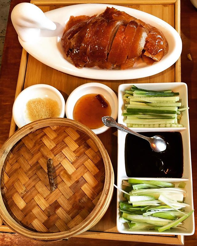 Nothing is better than having delicious Beijing duck on a lazy Sunday. 😋