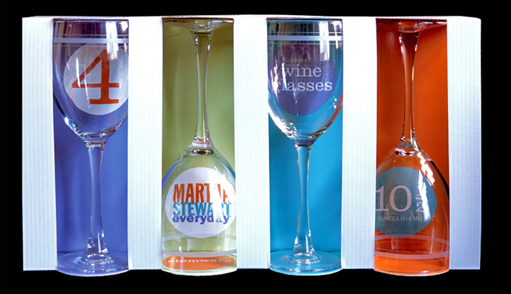 Martha Stewart Everyday for Kmart, Glassware Packaging